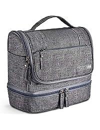 Bolsa de Aseo, Kit de Organizador de Artículos de Tocador de Viaje Colgante con Gancho y Manija Bolsa de Cosméticos Dop para Hombres o Mujeres