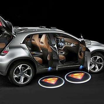 Amazon.com: iTimo 2pcs Wireless Battery Operated Led Car Door Logo ...