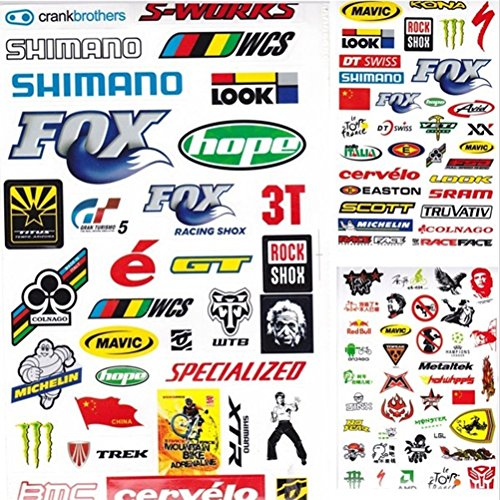 Suppersupplier 3pcs outdoor bicycle cycling sticker mountain bike skateboard decal bicycle sticker