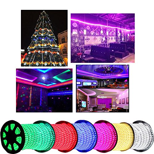 Led strip lights 5050 16.4ft/5m Flexible Led strip Changing RGB TOPMAX NON-Waterproof Lighting with 44keys Remote Cotroller and 12V 3A Power Adapter by TOPMAX (Image #5)