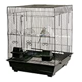 Anini Apartment Flattop Bird Cage - 18''W x 18''D x 23''H - Black
