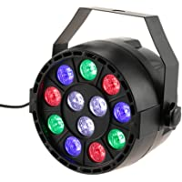 Lixada Bola Discoteca Luces RGB LED Mini Crystal Magic Bola Giratoria Efecto LED Escenario Luces para KTV Navidad Fiesta…