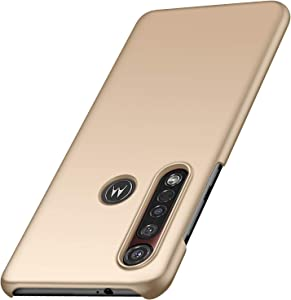 Yipmai Compatible with Motorola Moto G8 Plus Case, 0.03 Inch Ultra Thin Ultra Slim Hard PC Plastic Protective Case for Motorola Moto G8 Plus (Smooth Gold)