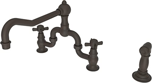 Newport Brass 9451-1 10B 940 Series Three-Hole Kitchen Faucet with Matching Spray, Oil Rubbed Bronze