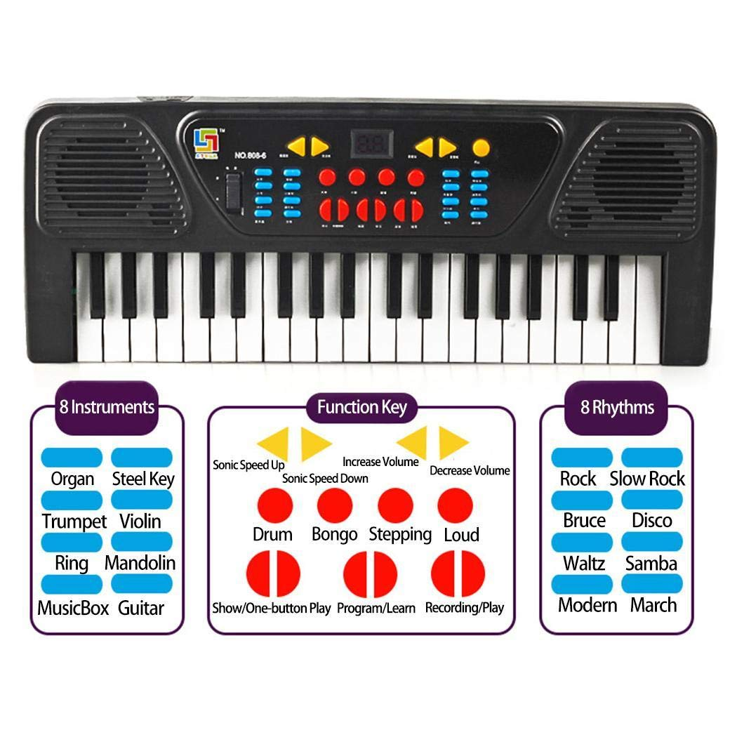 Kids Portable 37 Keys Multifunctional Electric Piano Keyboard Educational Toy