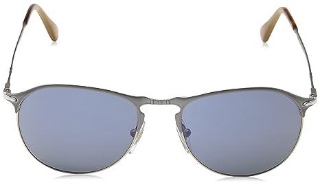 Persol Herren Sonnenbrille 0Po7649S 1068M3, Silber (Matte/Greenpolar), 53