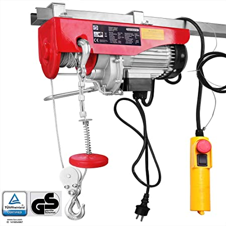 Monzana Electric Cable Winch 400 Kg Up To 800 Kg Lifting Height 12 M Pulley Motor Winch Pulley Hoist Rope Hoist Chain Hoist Baumarkt
