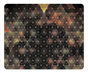 Abstract Psychedelic Geometry Fresh New Rectangle Mouse Pad by eeMuse by mcsharks