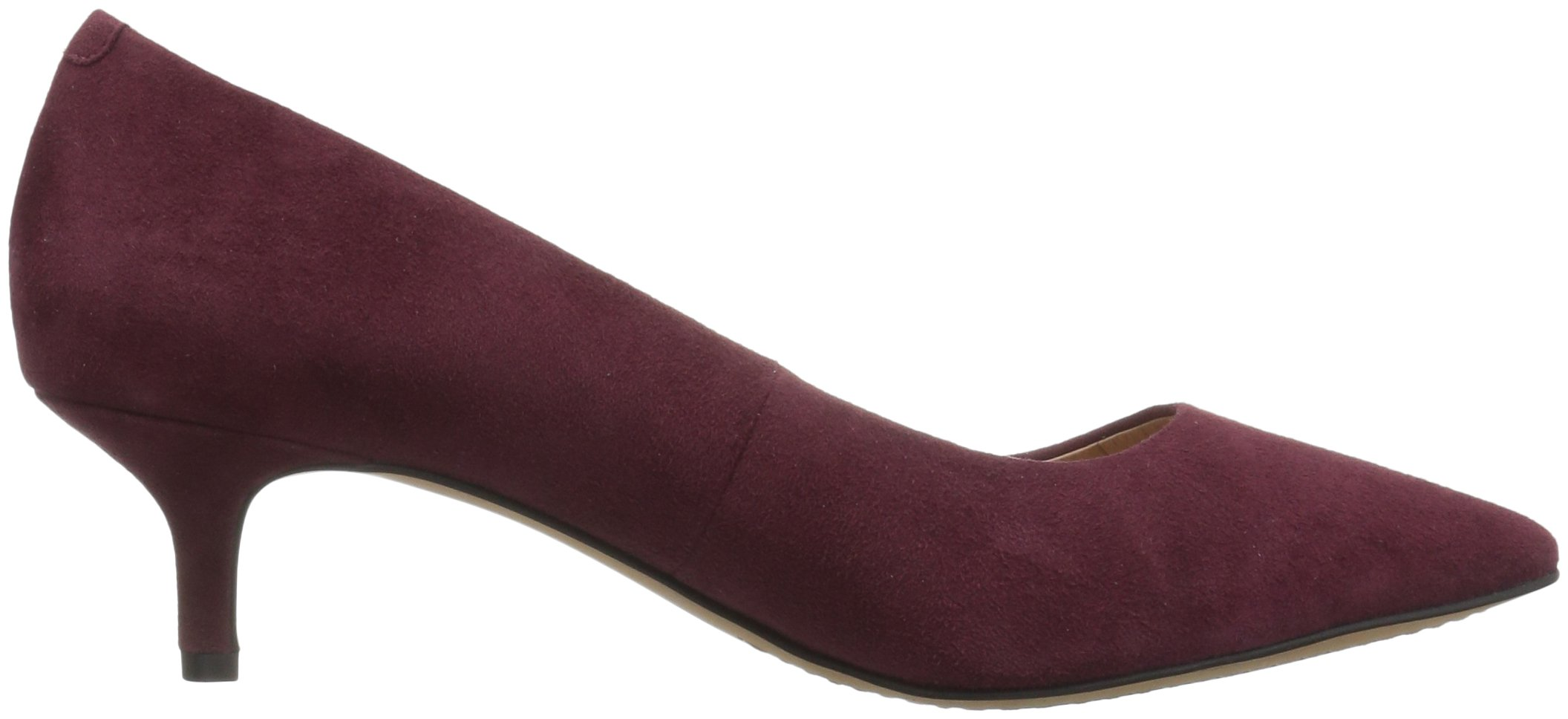 206 Collective Women's Queen Anne Kitten Heel Dress Pump, Burgundy, 8.5 B US by 206 Collective (Image #7)