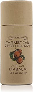product image for Farmstead Apothecary 100% Natural Lip Balm with Organic Beeswax, Organic Shea Butter & Organic Coconut Oil, 0.2oz (Apricot)