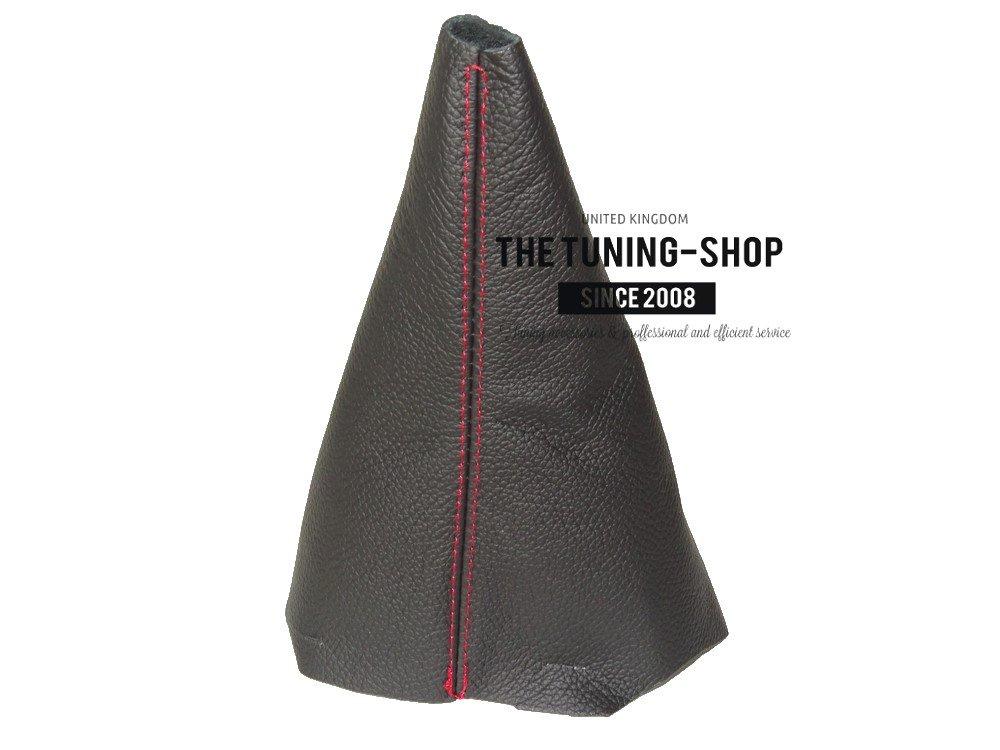 For Citroen Berlingo II 2008-16 Gear Stick Gaiter Black Genuine Leather Red Stitch