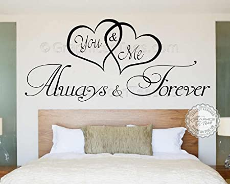 Graphics U0027nu0027 Tees   You U0026 Me Always Forever Romantic Bedroom Wall Sticker  Love