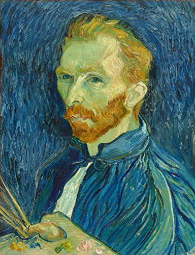 Fine Art Print - Self-Portrait 1889 - Vincent van Gogh - Vintage Wall Decor Poster Reproduction - 11in x 14in