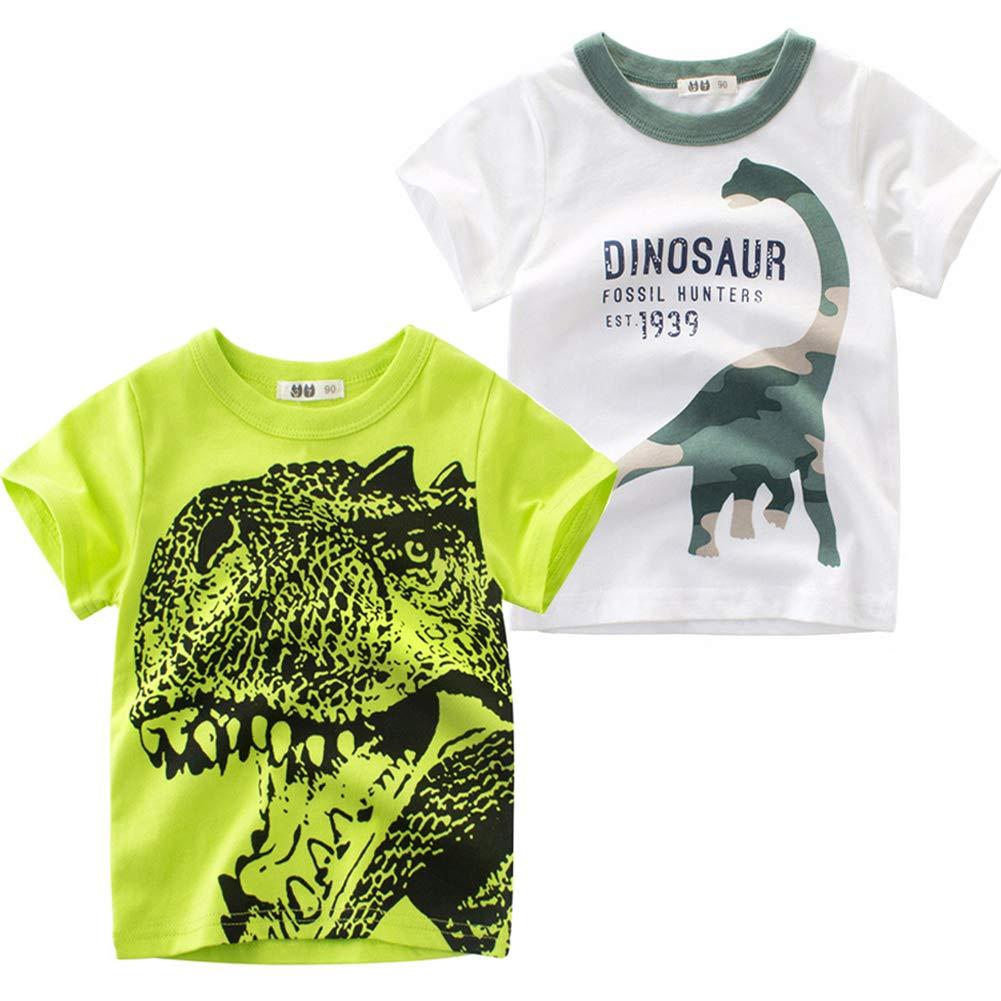 6e5bac41 Frogwill Boys Dinosaur Short Sleeve T-Shirt Top Tee Size 2-10 product image