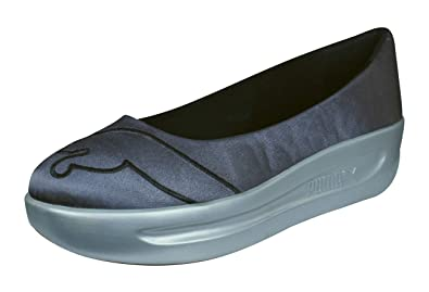 3d16d0dd00bd PUMA GV Spadrille Womens Patent Leather Slip on Shoes Sandals - Blue-Grey-