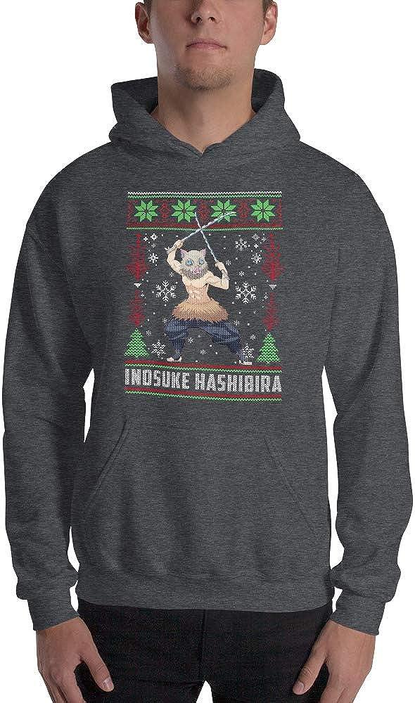 Inosuke Hashibira Demon Slayer Kimetsu no Yaiba Anime Ugly Christmas Sweater Men//Women Unisex Hoodie