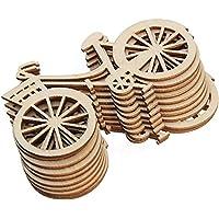 Westeng 10pcs Decoraciones de Madera Forma de Bicicleta