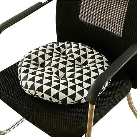 Xshuai - Cojín redondo para silla de jardín (36 x 36 cm ...
