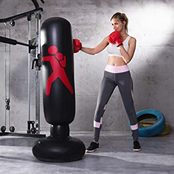 Amazon.com: GOBEAUTY Boxing Column Inflatable Punching Bag ...