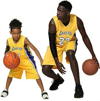 XCR Niños Chico Chicas Hombres Adulto NBA Lebron James #23 LBJ LA Lakers Retro Pantalones Cortos y Camisetas de Baloncesto Basketball Jersey Uniformes Top&Shorts 1 Set: Amazon.es: Deportes y aire libre