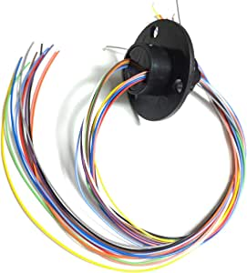 Taidacent High Speed ​​Ball Conductive Slip Ring 12 Wire 2A Collector Ring Rotating Joint Rotary Connector Rotary Electrical Contact Commutator