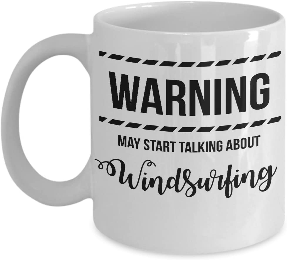 Warning May Start Talking About Windsurfing Mug