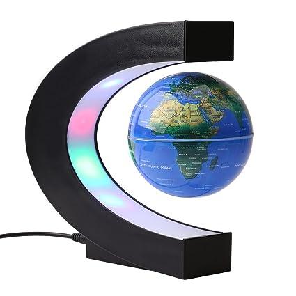 globo c levitazione magnetica  Yosoo C levitazione magnetica LED Globo Mappa,a forma di sfera ...