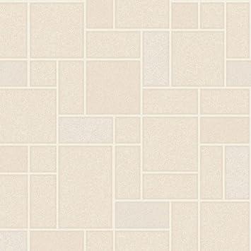 Holden Winchester Fliesen Effekt Muster Tapete Geprägt Glitzer Küche  Badezimmer   Beige 89291