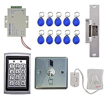 Sharplace Kit Completo Sistema de Control de Acceso a Puerta con Lector de RFID con 10
