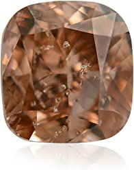 1.00Cts Fancy Brown Pink Loose Diamond Natural Color Cushion Cut GIA Certified