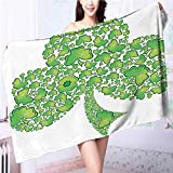 also easy Soft bath towel Irish Shamrock Figure Made with Small Crs Holy Easy care machine wash L39.4 x W19.7 INCH