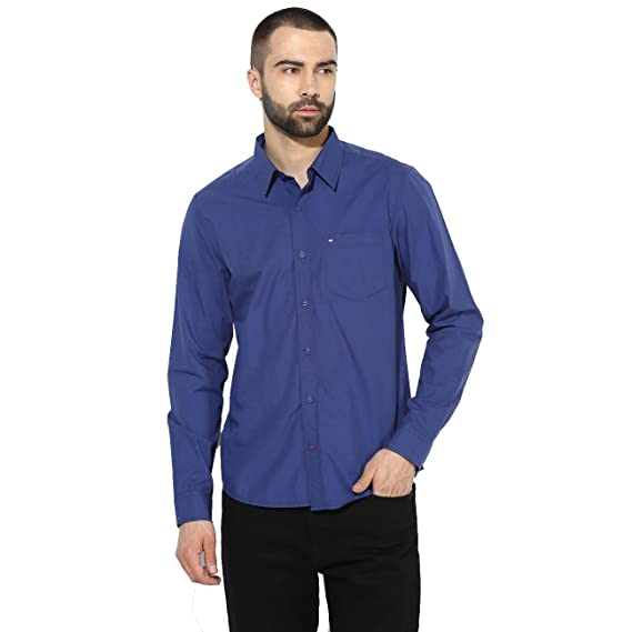 a902321811 Red Chief Blue Men Casual Cotton Full Sleeve Regular Fit Shirt (8110421  002)  Amazon.in  Clothing   Accessories