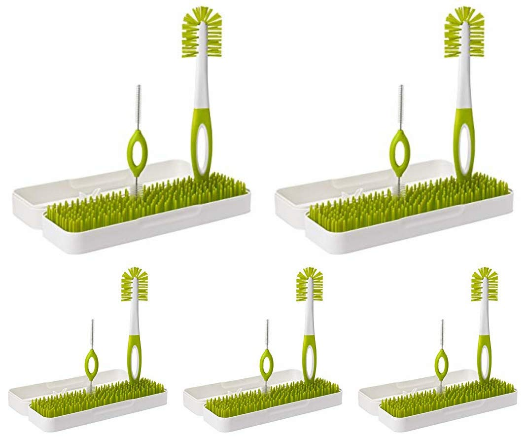 Boon Trip Travel Drying Rack, Green, White (5 Pack)