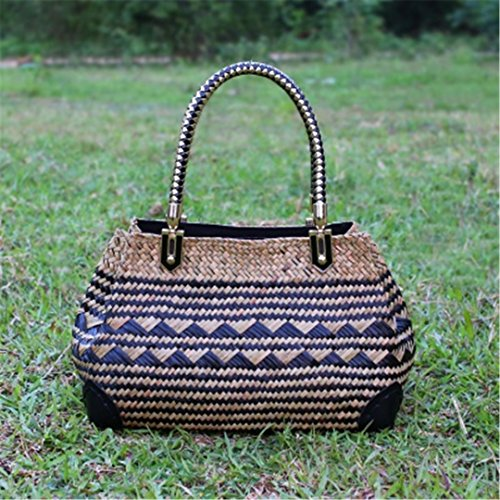 Woven Thai Tourism And Rattan Beach European Of Version Grass Bag Resort Style BOBOMIMI American Bag Shoulder 1 Retro ASqXUwxX