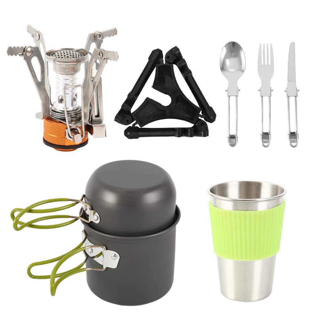 Pans /& Kettle Set Andes Camping Cookware Kit Portable Backpacking//Hiking Pots