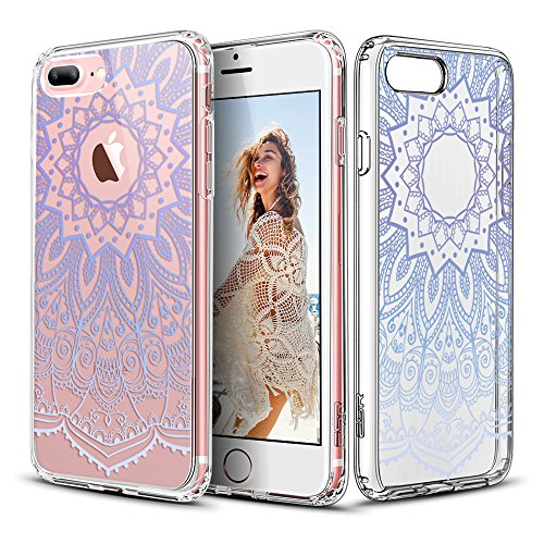 ESR iPhone 7 Plus Case, Floral Flower Pattern Cover for Girls/Women [Anti Scratch PC Back + Soft Bumper] for iPhone 7 Plus 5.5