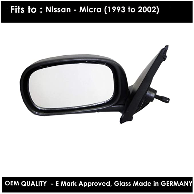 Passenger Side VUXHL-Corsa 1993 to 2000 Silver Door//Wing Mirror Glass LH