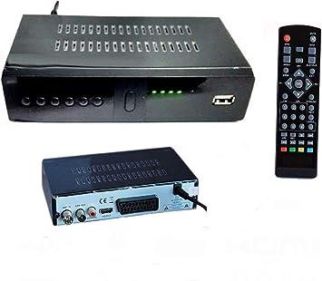 Decodificador Receptor Digital terrestre DVB-T3 TV SCART HDMI 1080P REG PVR HD 999: Amazon.es: Electrónica