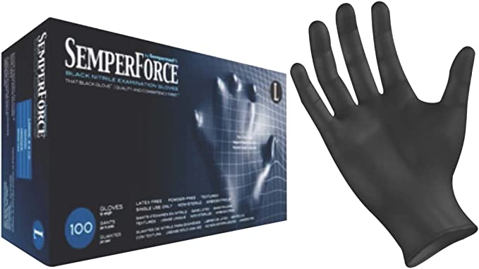 Black Dragon Zero Nitrile Tattoo and self protection Gloves Size MEDIUM