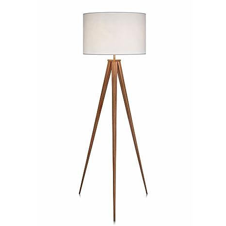 Versanora Romanza Lámpara LED de pie trípode estándar Color Blanco VN-L00007, 50 W, Tostado, 50x50x175.5cm