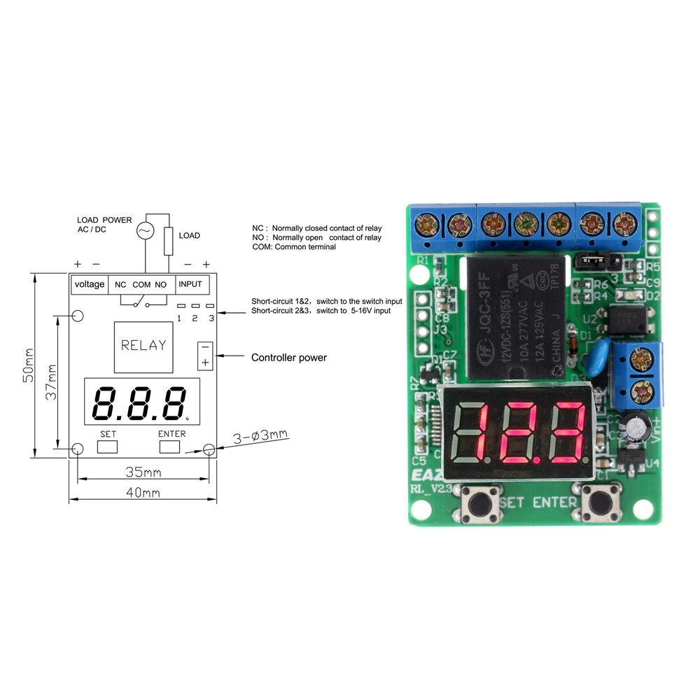 amazon com kkmoon dc 12v voltage detection charging discharge monitor test relay switch control board module automotive