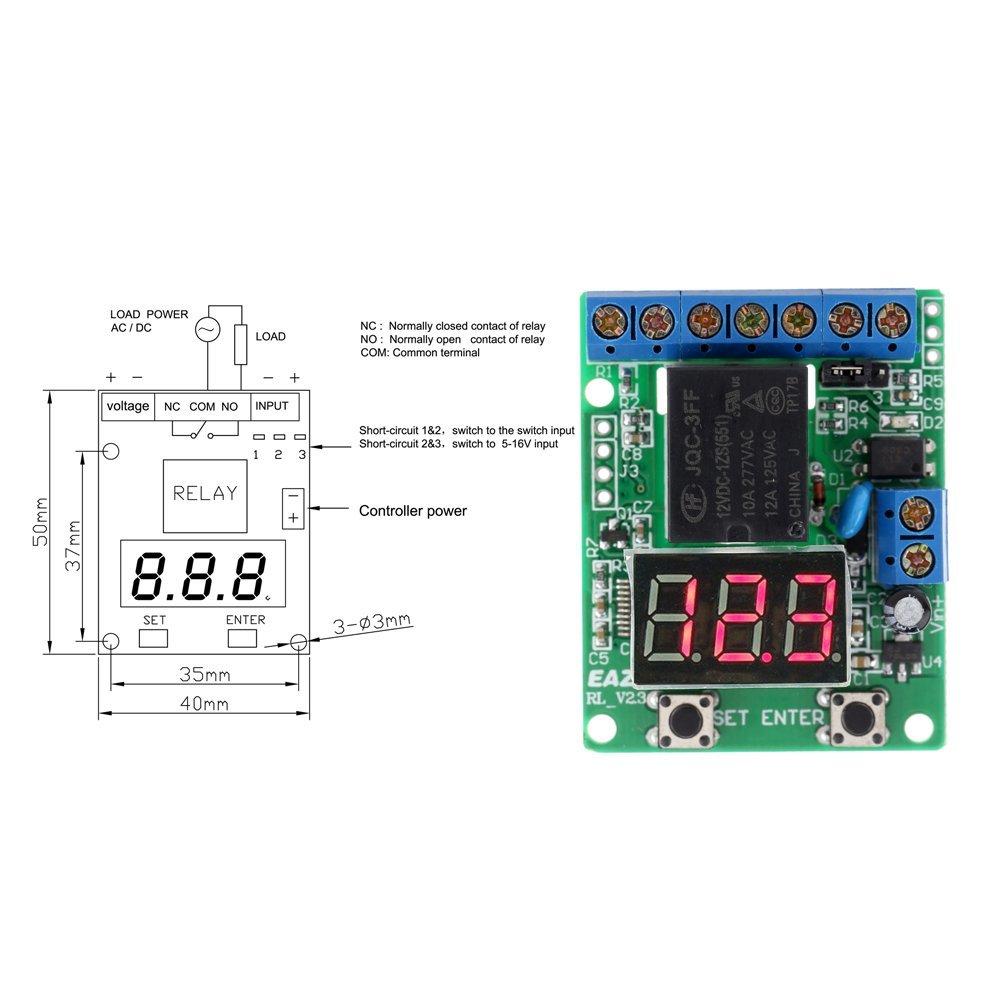 Amazoncom KKmoon DC 12V Voltage Detection Charging Discharge