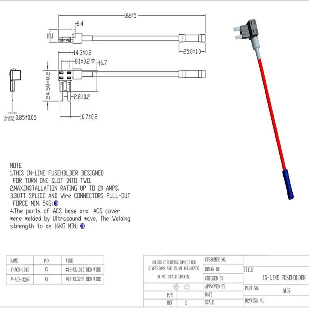 Mintice™ 12V 24V Auto LKW Mini Flachsicherungsadapter  Sicherungshalter für Spannungsabgriff KFZ Flachsicherungen Autosicherungs:  Amazon.de: Auto