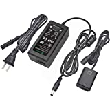 Gonine AC-PW20 AC Power Supply Adapter and DC Coupler Charger Set, Replace NP-FW50 Battery for Sony Alpha A6500, A6400…