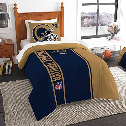Northwest Sham NOR-1NFL835000083BBB 64 x 86 St. Louis Rams NFL Twin Comforter Set, Soft & ()