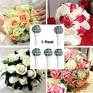 okdeals 5 Pack Flower Bouquet Holder Bridal Wedding Bouquet Holder Decoration for Flower Arrangement Wedding Bouquet Supplies 24