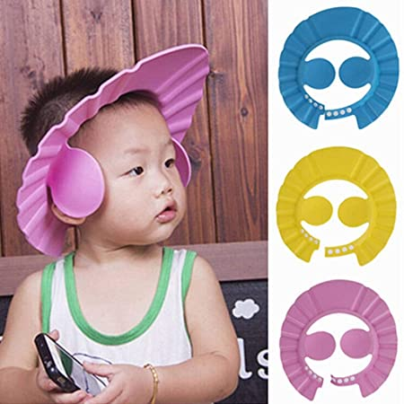 Bathroom Soft Shower Wash Hair Cover Head Cap Hat.for Child Toddler Kids KK