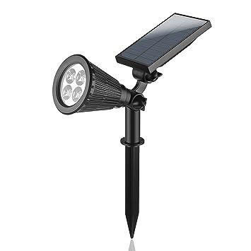 LemonBestu0026reg; Wasserdichte RGB Solarbetriebene Outdoor Spotlight, Solar  Gartenleuchten Solar Strahler LED Für Garten Auffahrt