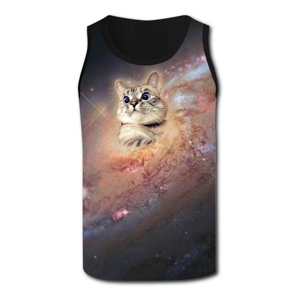 Cat in Space Tank Top Vest Shirts Singlet Tops Sleeveless Underwaist for Men Running
