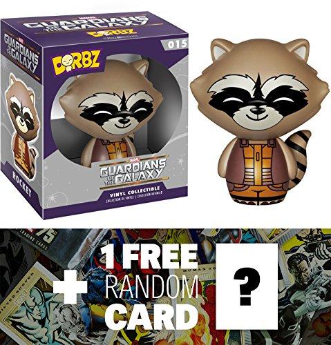 Rocket Raccoon: Funko Dorbz x Guardians of the Galaxy Mini Vinyl Figure + 1 FREE Official Marvel Trading Card Bundle [59361]